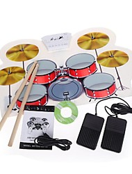 USB MIDI Drum Kit PC Desktop Roll Up Electronic Drum Pad Portable with Drumsticks MD1008