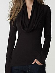 TS Cowl Shirt , Polyester Long Sleeve