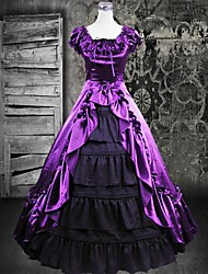 Sleeveless Floor-length Purple Silk Gothic Lolita Dress