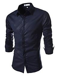 stile invernale moda maschile coton confortevole camicia casual