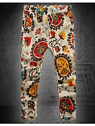 Men's Casual Print Linen