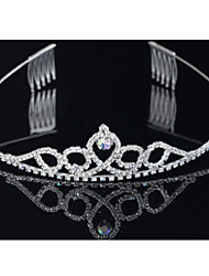 Corea Meninas Cute Princess Crown Diamante Headband