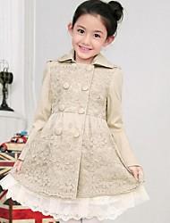 Girl's Cotton Blend Jacket & Coat , Winter/Spring/Fall Long Sleeve