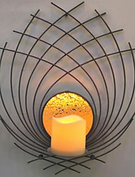 Metal Wall Art Wall Decor,Special Shape Candlestick Wall Decor