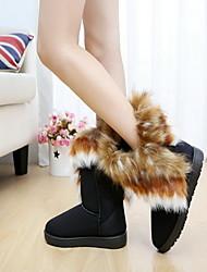 Kamal donne come stivali da neve pelliccia di volpe