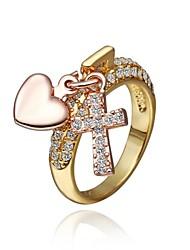 Fashion Women Golden Rhinestone Fashion Rings(Golden)(1Pcs)
