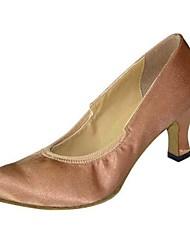 tacco alto tacco grosso scarpe di raso ballo delle donne moderne