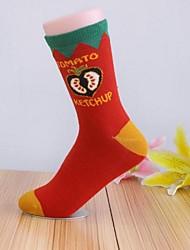 Moda cores misturadas meias de 5pairs mulheres (cor aleatória de colocação)