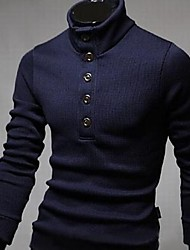 Men's Semi Turtle Neck Knit Sweater