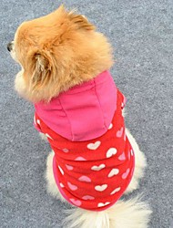 Dog / Cat Hoodie Rose Winter Hearts Wedding / Cosplay