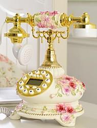 hoshine® nouveauté moderne de style jardin maison pensée fleur polyrésine téléphone avec affichage id