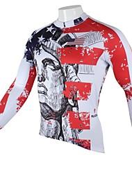 PALADIN® Fahrradtrikot Herrn Langärmelige Fahhrad Atmungsaktiv / Rasche Trocknung / UV-resistant Oberteile 100% Polyester Architektur
