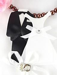toppers gâteau de la mariée et le marié gâteau de robe topper (ensemble de quatre)