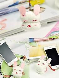 acessórios de coelho forma de fibra de aniversário do telefone móvel presente toalha criativo (cor aleatória)