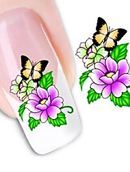 Water Transfer Printing Nail Stickers XF1060