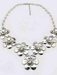 moda elegante flor diamonade colar curto feminino sszp