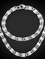 New 316L Stainless Steel Chunky Figaro Link Chain Necklace Bracelet