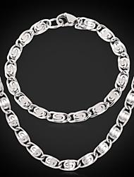 novo aço inoxidável robusto ligação Figaro pulseira colar de corrente 316l