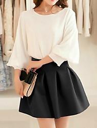 Women's Pleats Solid Color Mini Tutu Skirt