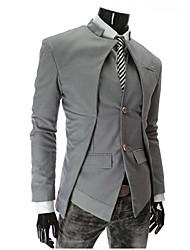 GMIG Men's Long Sleeve Slim Stand Collar Causual Suit Blazer