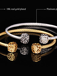 New High Quality AAA+ Zircon Zirconia Cuff Bangle Bracelet 18K Gold  Platinum Plated Jewelry Gift for Women