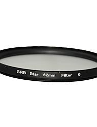 DSTE 62 millimetri filtro stella 6 linea per pentax 18-135 18-250 e ecc diametro dell'obiettivo di 62 millimetri