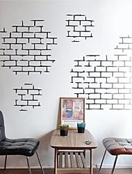 stickers muraux autocollants de mur, brique briques modernes murales caractéristiques de texture PVC autocollants