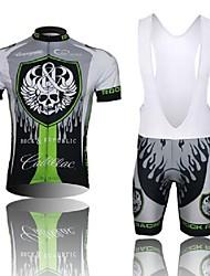 WEST BIKING® Cycling Jersey with Bib Shorts Men's Short Sleeve Bike Breathable / 3D Pad / Reflective StripsBib Shorts / Jersey + Bib