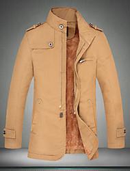 Mode Slim manches longues de Hotta hommes col montant causual simples épaissir vestes