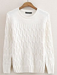 Men's Round Collar Sweater Knitting Render Unlined Upper Garment