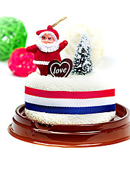 Christmas Gift Santa Cake Shape Towel(100% Cotton,30*30cm)