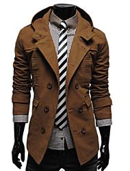 tout le match couleur unie manteau thermique