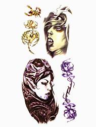 1pc Halloween Cartoon Waterproof Tattoo Sample Mold Temporary Tattoos Sticker for Body Art(18.5cm*8.5cm)