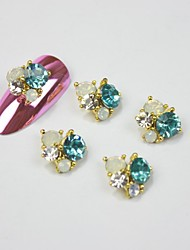 5PCS 3D Light Zircon Alloy Nail Art Decorations Nail Art Jewelry