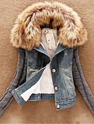 Juciy Women's Denim Splice Coat