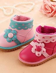 Baby Calçados Casual Courino Botas Rosa/Coral