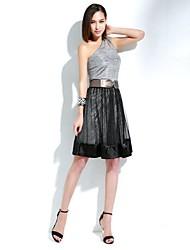 sexy de rejilla elástica cintura falso estilo de dos piezas de las mujeres joannekitten® falda con vuelo