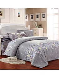 Set of 4  Floral  Bamboo Fiber Twill  Duvet  Covers