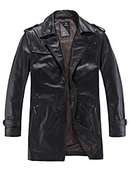 Men's Genuine Cowhide Leather Coat