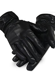 Outdoor Man's Autumn And Winter Fashion High-grade Leather Thickening Warm Sports Gloves