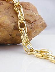 18k vergulde gouden armband 21cm