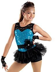 Jazz Dancewear Lace Sequin Skirt Biketard Jazz/Modern Dance/Cheerleader Costumes For Girls Kids Dance Costumes