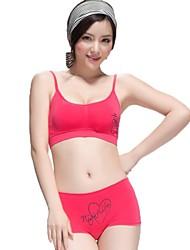 Frauen-Mode nahtlose komfortable Wireless-Weste Unterwäsche Sport-BH-Set