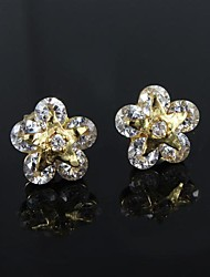 Fabulous Brass Gold Plated with Cubic Zirconia Women's Earrings(More Colors)