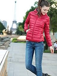 Peach John женщин с длинным рукавом тонкий моды капюшоном сгущаться causual пальто
