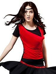 Latin Dance Performance Viscose Yarn Sheet  Latin Dancewear Top For Ladies (More Colour)