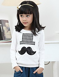 Girl's Print Tee,Cotton Winter / Fall / Spring White / Gray