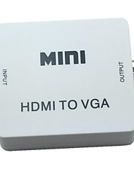 New Mini Converter White HDMI to VGA Audio Video Analog