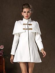 Women's Cape Style Tweed Midi Toggle Duffle Coat