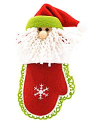 joyeux gant de décoration de Noël en forme de pendre non-tissé 19.1 * 19.1
